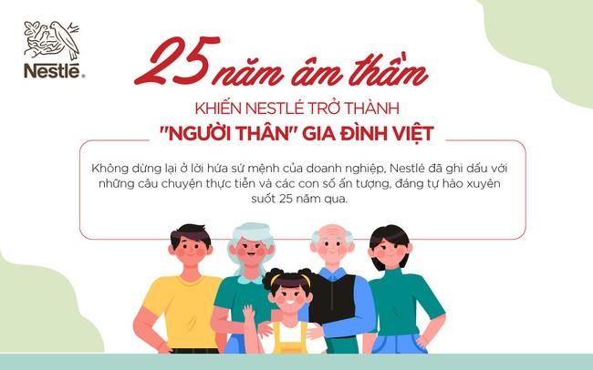 """25 năm âm thầm khiến Nestlé trở thành """"người thân"""" gia đình Việt"""