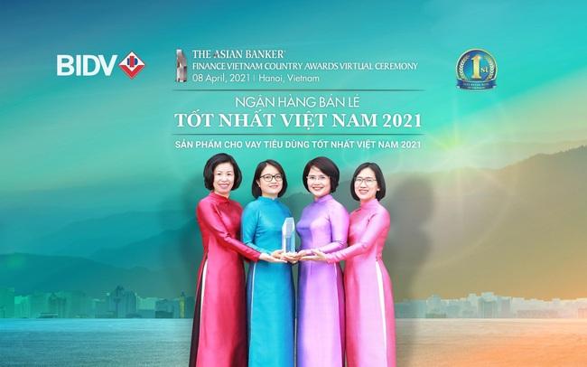 BIDV liên tiếp nhận giải Ngân hàng bán lẻ tốt nhất Việt Nam
