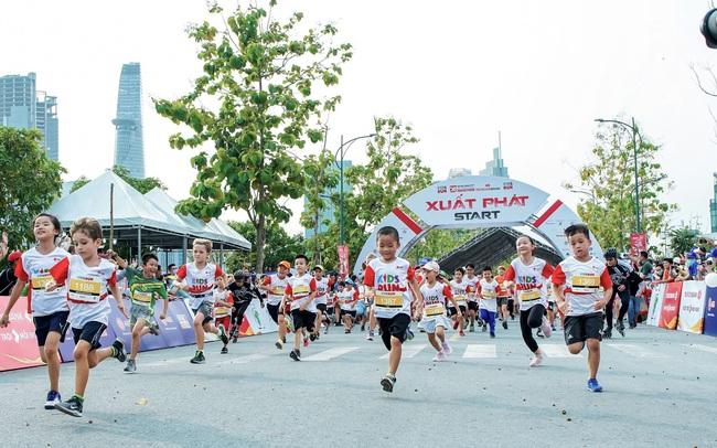 Hơn 500 vận động viên nhí hào hứng trải nghiệm cùng AEG tại Kids Run