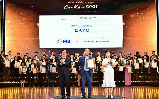 """Giải pháp eKYC của MB xuất sắc giành giải thưởng """"Sao Khuê 2021"""""""