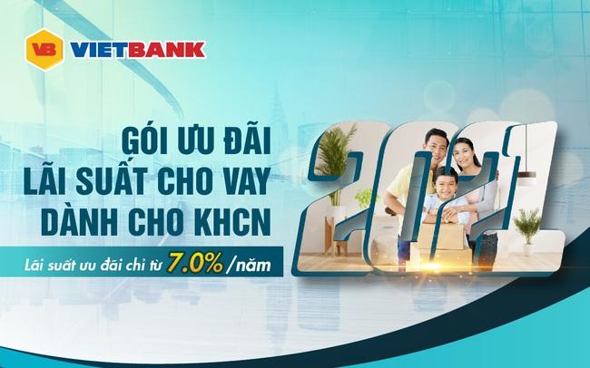 Khách hàng được ưu đãi lãi suất chỉ từ 7%/năm tại Vietbank