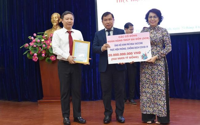 Cổ đông SCB ủng hộ quỹ phòng chống dịch Covid-19 của TP Hồ Chí Minh
