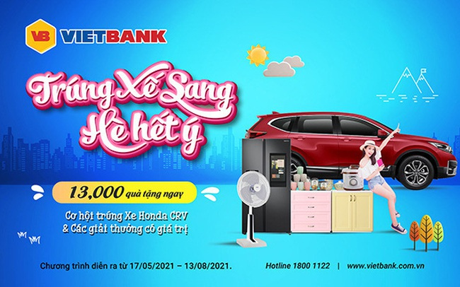 Khách hàng gửi tiết kiệm tại Vietbank có cơ hội trúng ô tô Honda CRV 1.5 E