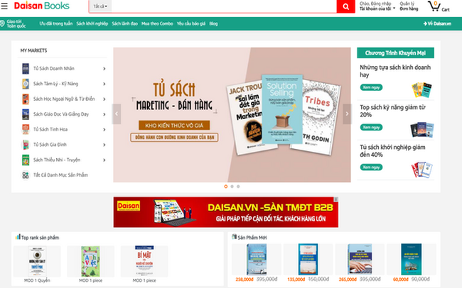 Mô hình bán sách trực tuyến độc đáo mang tên Daisan Books