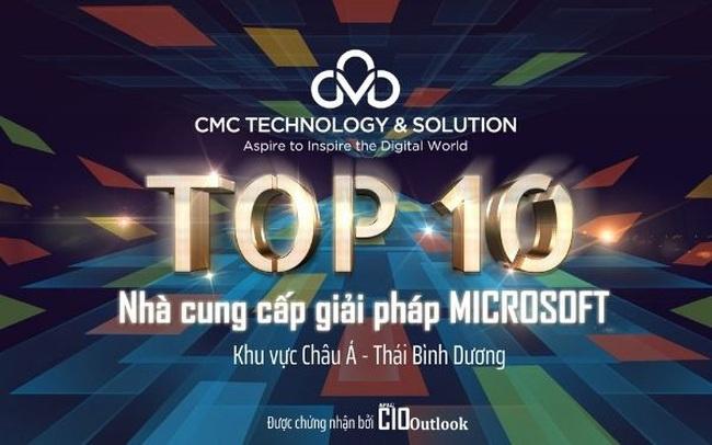 CMC TS được vinh danh trong top 10 nhà cung cấp giải pháp Microsoft tại châu Á – Thái Bình Dương
