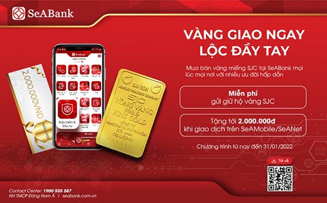 SeABank mở rộng cung cấp dịch vụ mua bán vàng SJC trực tuyến