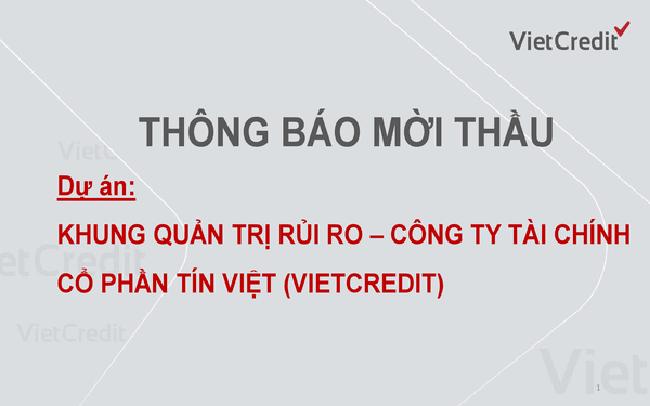 VietCredit  thông báo mời thầu