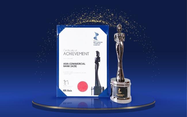 """ACB được vinh danh """"Nơi làm việc tốt nhất châu Á 2021"""" theo HRAsia"""