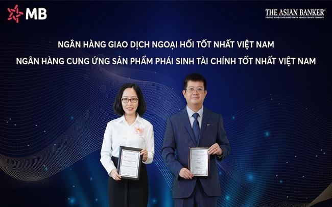 MB nhận cú đúp giải thưởng của The Asian Banker