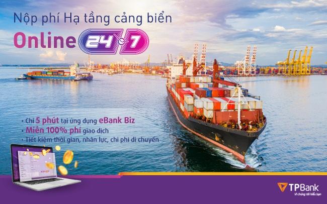 TPBank triển khai tính năng thu phí hạ tầng cảng biển trực tuyến