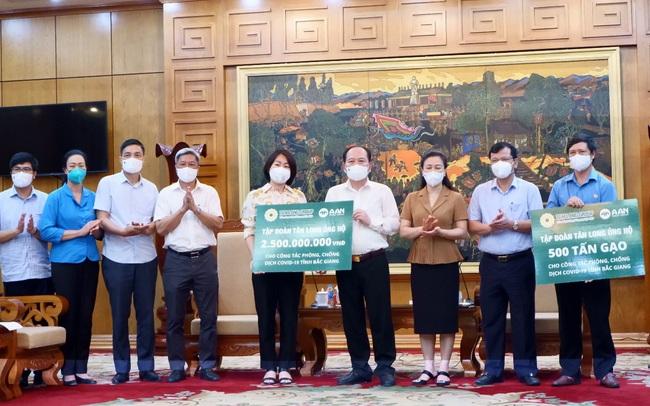 Tập đoàn Tân Long chung tay cùng Bắc Giang, Bắc Ninh chống dịch Covid-19