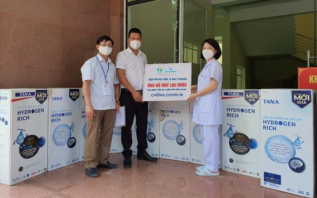 Tân Á Đại Thành tặng máy lọc nước cho bệnh viện dã chiến Bắc Giang, Bắc Ninh