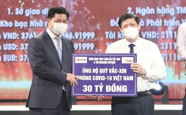TNG Holdings Vietnam & Ngân hàng MSB ủng hộ gần 50 tỷ phòng chống dịch Covid-19