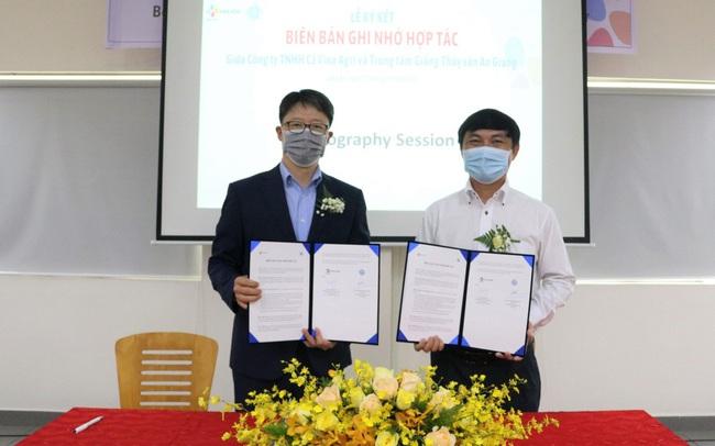 Lễ ký kết hợp tác giữa CJ Vina Agri và Trung tâm giống thủy sản An Giang