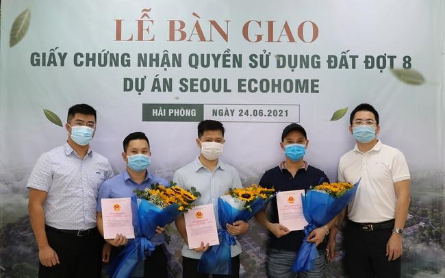 Chủ đầu tư dự án Seoul Ecohome bàn giao sổ đỏ đợt 8 cho cư dân