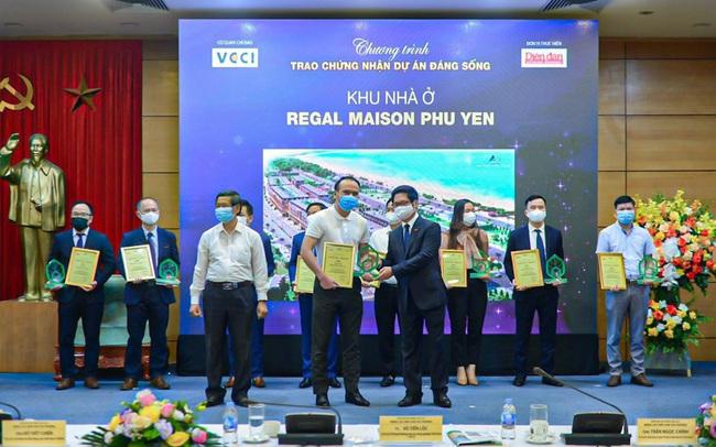 """""""Dự án đáng sống 2021"""" ghi danh Regal Maison Phu Yen của Đất Xanh Miền Trung"""