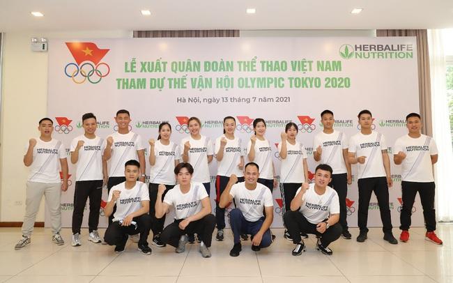 Herbalife đồng hành tổ chức Lễ xuất quân Đoàn thể thao Việt Nam tham dự Olympic Tokyo 2020