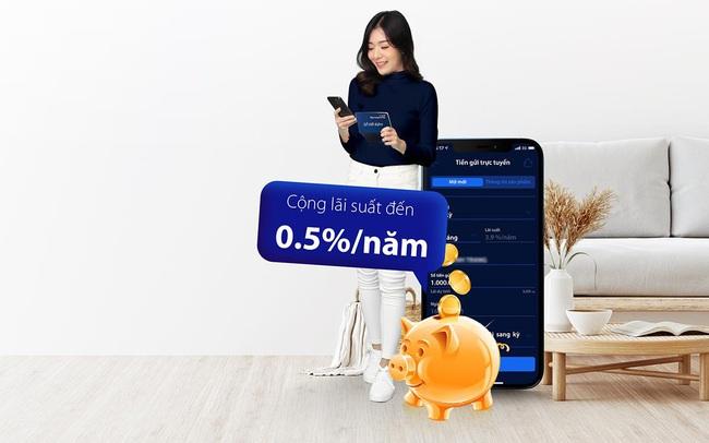 """Gửi tiết kiệm online trên """"digimi"""" - cộng thêm đến 0,5% lãi suất"""