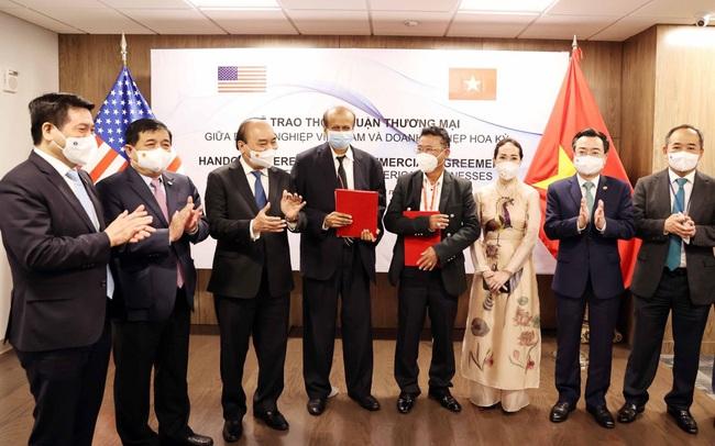 Chủ tịch nước chứng kiến Lễ trao thỏa thuận hợp tác giữa SGT-KBC và Tập đoàn Quantum (Mỹ)