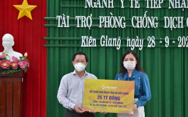 Sun Group hỗ trợ thêm 25 tỷ đồng giúp Kiên Giang chống dịch