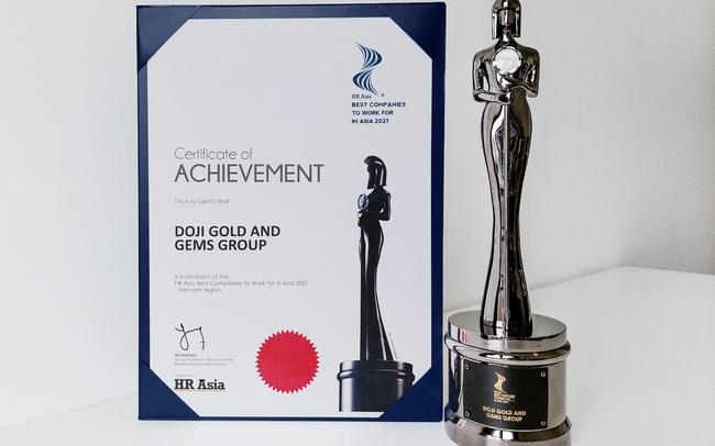 HR Asia Awards vinh danh DOJI là Nơi làm việc Tốt nhất Châu Á 2021