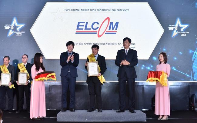 ELCOM Corp nhận cú đúp giải thưởng 'Top 10 doanh nghiệp ICT Việt Nam 2021′