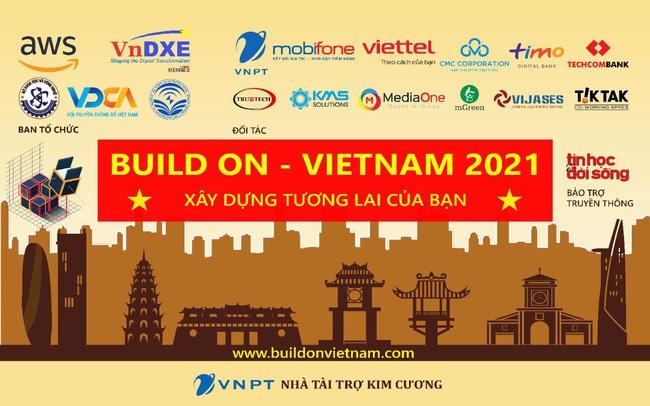 """Bùng nổ sáng kiến công nghệ tại chung kết cuộc thi Hackathon """"Build On, Vietnam 2021"""""""