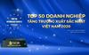 NCB lọt Top 50 Doanh nghiệp tăng trưởng xuất sắc nhất Việt Nam năm 2020 của Vietnam Report
