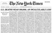 Bản cáo phó đặc biệt trên bìa tờ báo hàng đầu nước Mỹ New York Times