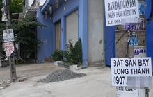 Hoa mắt với cung đường tờ dán, tờ rơi rao bán BĐS tại Long Thành (Đồng Nai)