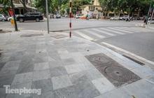 Vỉa hè các tuyến phố vùng 'lõi' Thủ đô thay đổi ra sao sau lát đá tự nhiên?