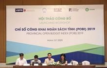 Công bố chỉ số công khai ngân sách tỉnh POBI 2019: Quảng Nam đứng đầu, Hòa Bình thấp nhất