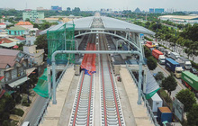 [ẢNH] Hình dáng ga metro khu Công Nghệ Cao lộ diện sau 8 năm xây dựng
