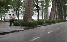 Ngày thứ 3 'cách ly toàn xã hội', hồ Hoàn Kiếm vắng bóng người tập thể dục