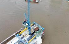 Nhìn từ trên cao, công trình cầu Thủ Thiêm 2 hiện thế nào?