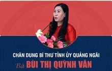 [Infographic]: Chân dung Bí thư Tỉnh ủy Quảng Ngãi Bùi Thị Quỳnh Vân
