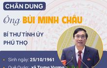 Infographic: Chân dung Bí thư Tỉnh ủy Phú Thọ Bùi Minh Châu