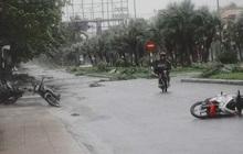 Bão số 9 đang đổ bộ vào Quảng Nam, nhiều người bỏ xe máy chạy vào nhà dân lánh nạn