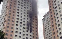 Cháy tại tầng 13 chung cư CT1 Xa La