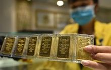 Giá vàng trong nước lại rớt mạnh