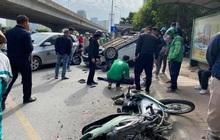 Tai nạn liên hoàn trên đường Phạm Hùng, 2 người bị thương