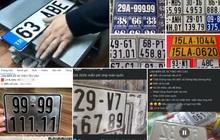Biển số xe giả rao bán tràn lan trên mạng xã hội