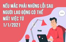 Infographic: Nếu mắc phải những lỗi sau người lao động có thể mất việc từ 1/1/2021