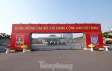 Trung tâm Hội nghị Quốc gia trang hoàng chuẩn bị Đại hội lần thứ XIII của Đảng