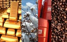 Thị trường ngày 22/1: Giá vàng, sắt, đồng đi xuống, bông cao nhất 2 năm