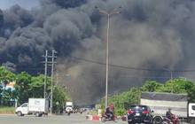 Khống chế đám cháy tại Công ty Tôn Hoa Sen ở Bình Dương