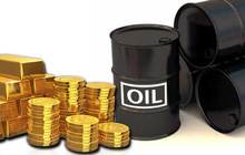 Giá vàng sắp kết thúc một tuần tăng,  giá dầu giảm tuần đầu tiên trong 3 tuần