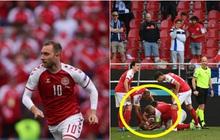 Khoảnh khắc cầu thủ Đan Mạch gục ngã, ngừng tim đột ngột giữa trận đấu khiến cả thế giới bàng hoàng, bật khóc: Ronaldo gửi lời chúc bình an, bác sĩ lý giải nguyên nhân