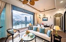 """Căn hộ Indochine ăn điểm với cách phối màu cực tinh tế, phòng ngủ chuẩn khách sạn 5 sao với view """"đỉnh"""""""