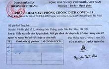 Hà Nội phát 'phiếu ra đường' cho người dân trong thời gian giãn cách xã hội